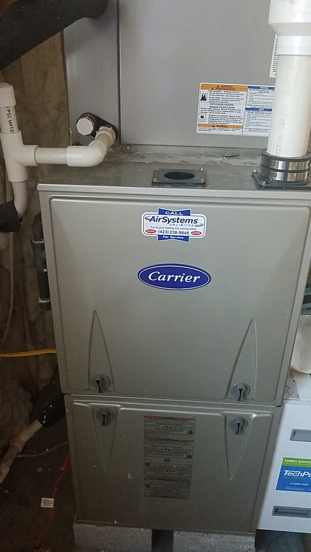 Signal Mountain, TN - Service call. Performed maintenance on Carrier furnace