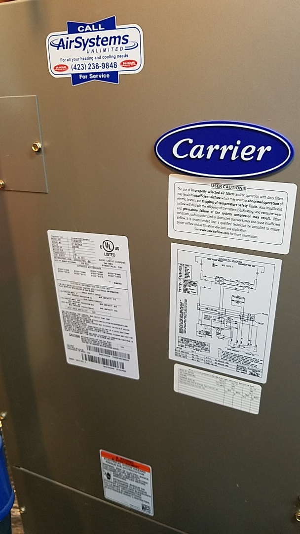 Chattanooga, TN - Service call. Performed repair on Carrier heat pump.