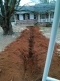 Replacing terracotta sewer pipe