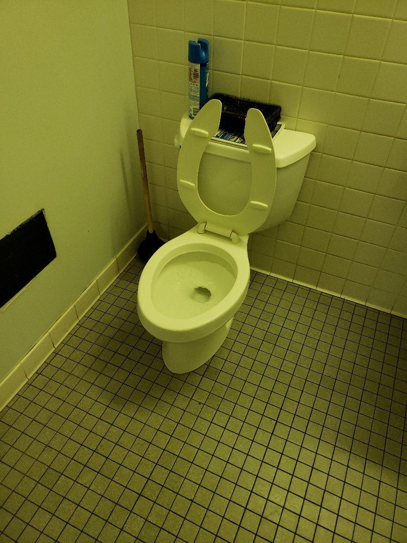 Norcross, GA - Working on Kohler toilet in commercial building
