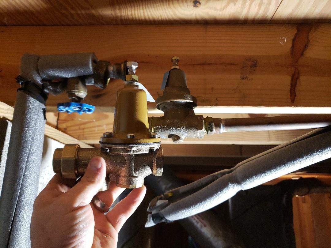 """Roswell, GA - Installing 3/4"""" watts 25aub pressure reducing valve"""