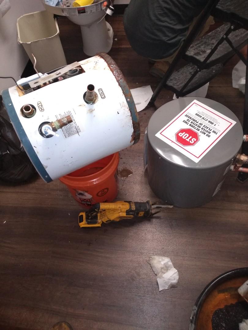 Sandy Springs, GA - Replacing water heater in ceiling