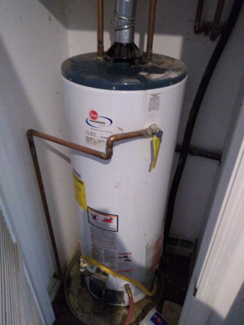 Replacing leaking water heater