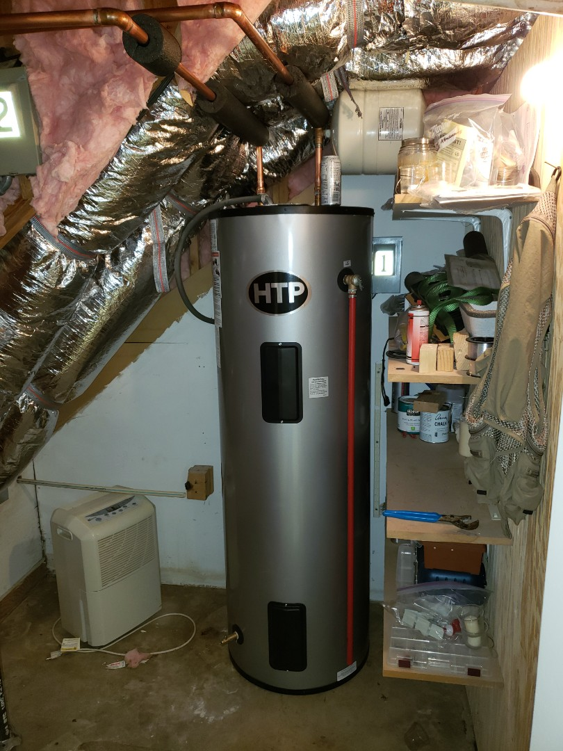 Installing HTP 80 gal light duty commercial water heater