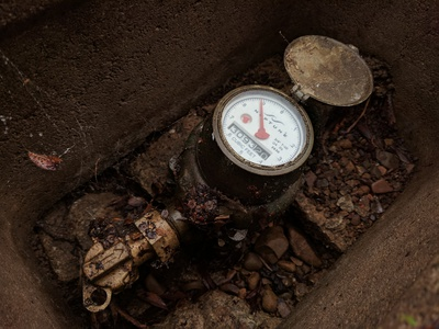 Repaired leak on water meter