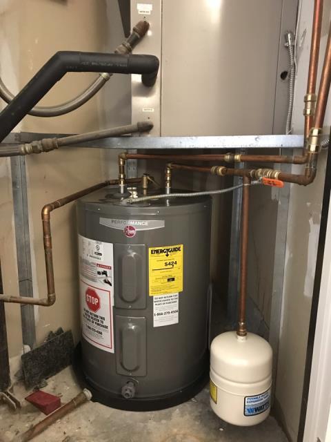 Installed new 40 gallon RHEEM water heater