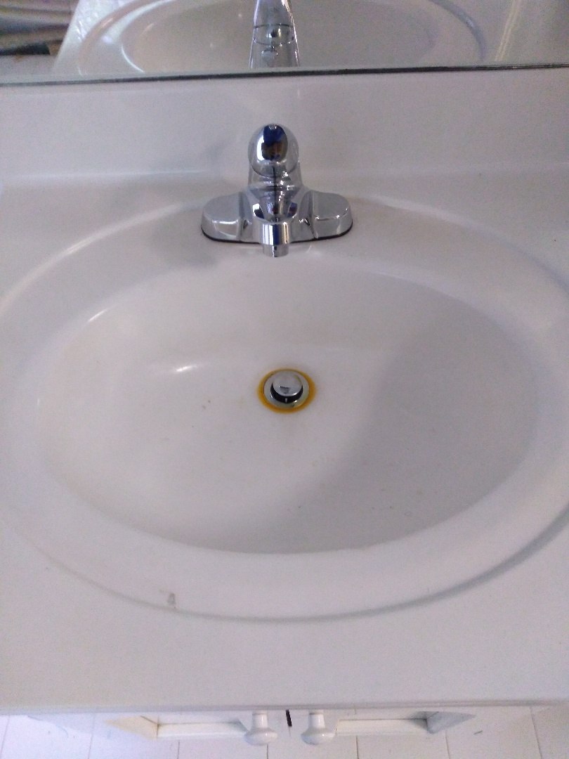 Replaced lavatory faucet