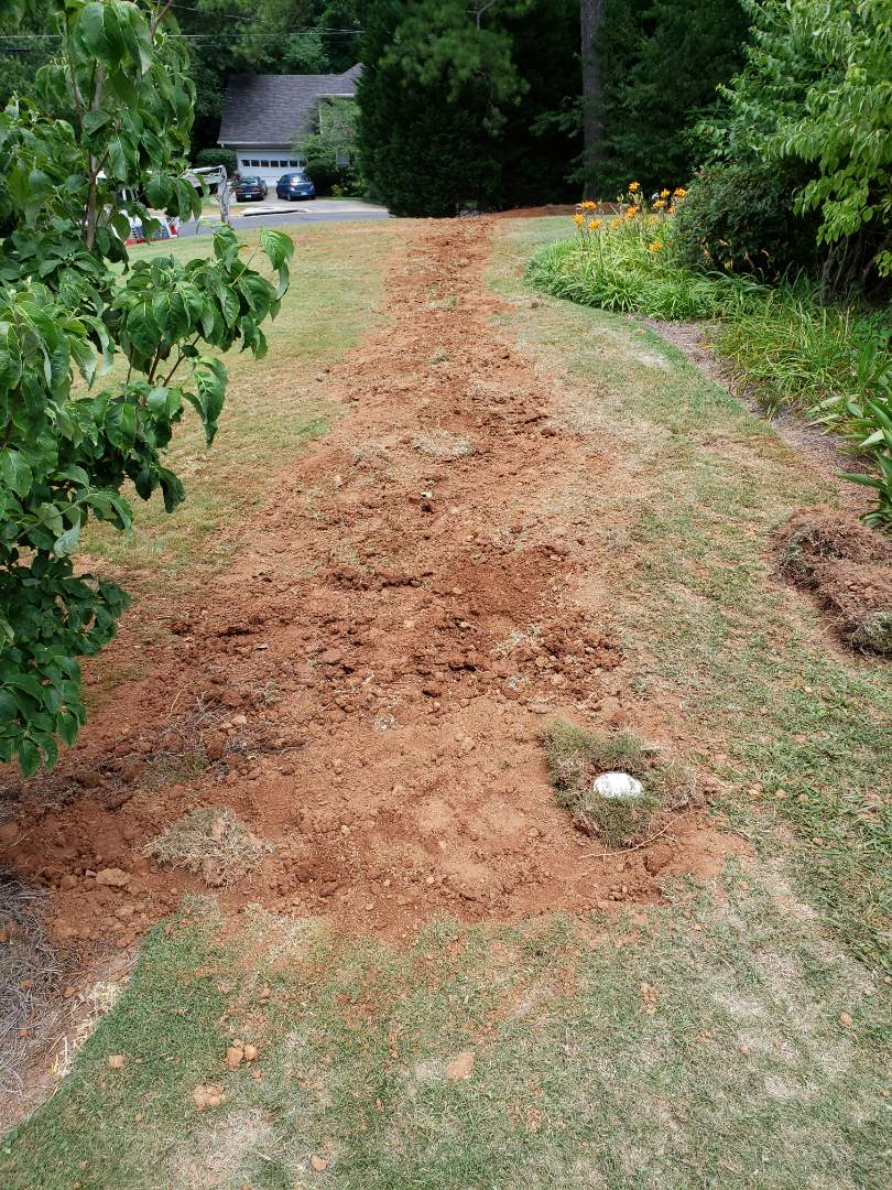 "Tucker, GA - Replace 4"" sewer line 125'"