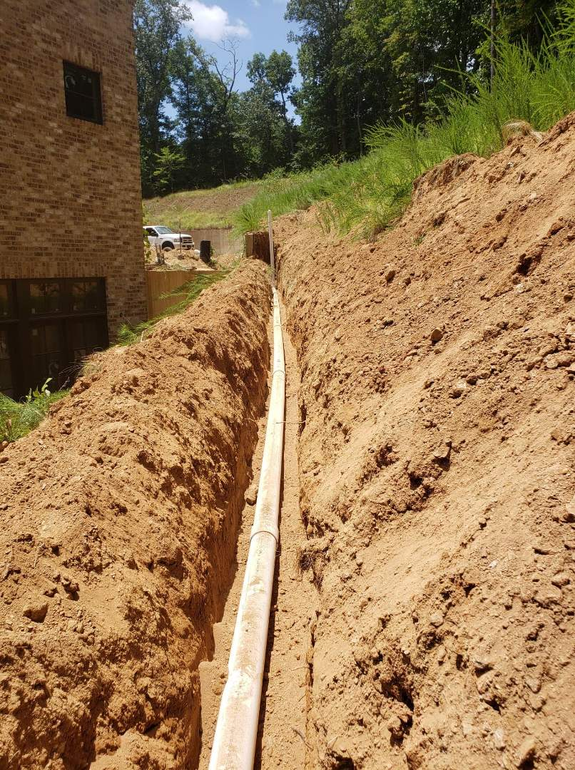 """200' if 4"""" sewer line for cabana addition on 22,000+ sqft custom home"""