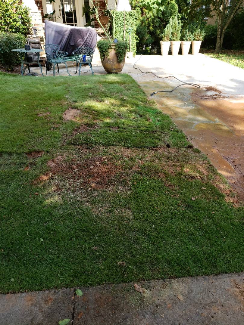 """Atlanta, GA - Repair on 6"""" terra cotta sewer line.. replaced 10' with sch 40 pvc"""