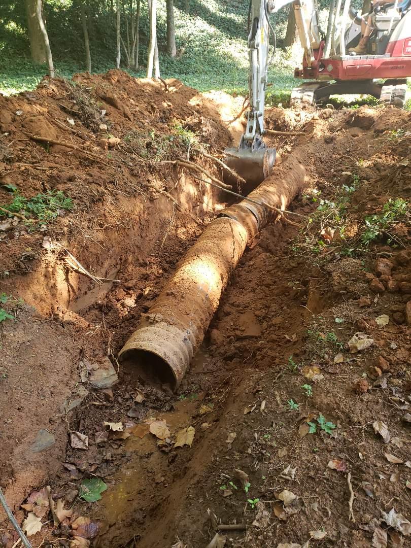 Evaluating delapidated storm drain