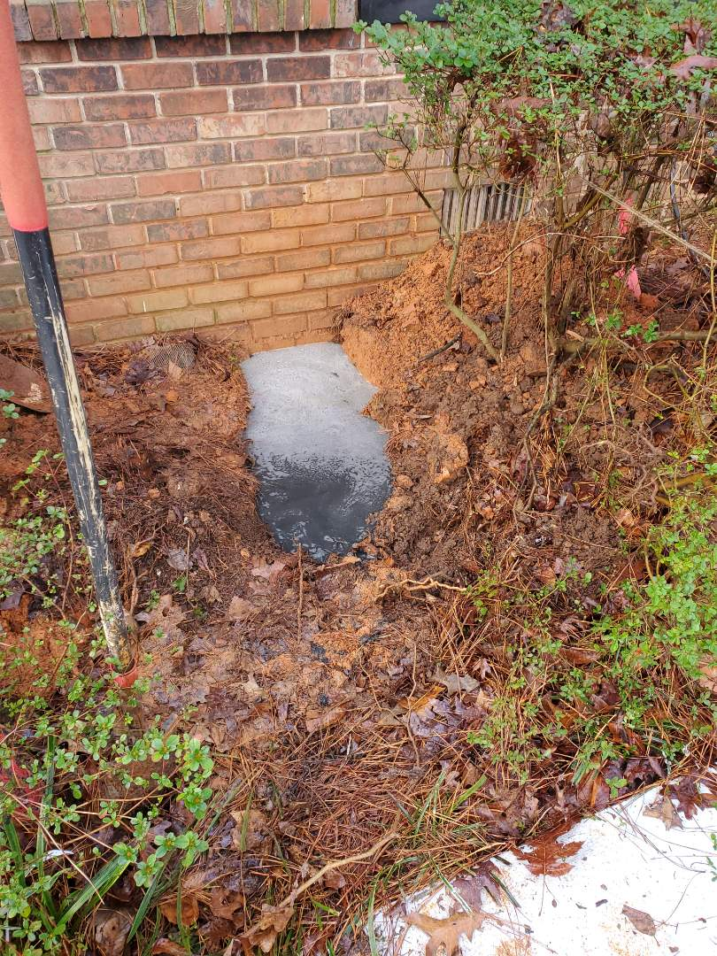 Dunwoody, GA - Old cast iron sewer line repair