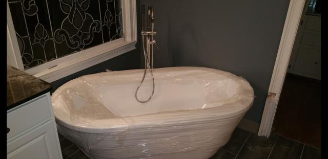 Marietta, GA - Installed a American Standard Claw Foot Tub with a Kohler Goose Neck Tub Valve