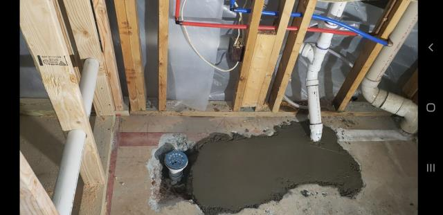 Alpharetta, GA - Repaired Cracked PVC Drain Line under slab and poured concrete back