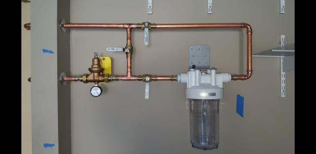 Marietta, GA - Installed Aqua Water Filter System with a new 3/4 Gate Valve and a new Watts pressure reducing valve