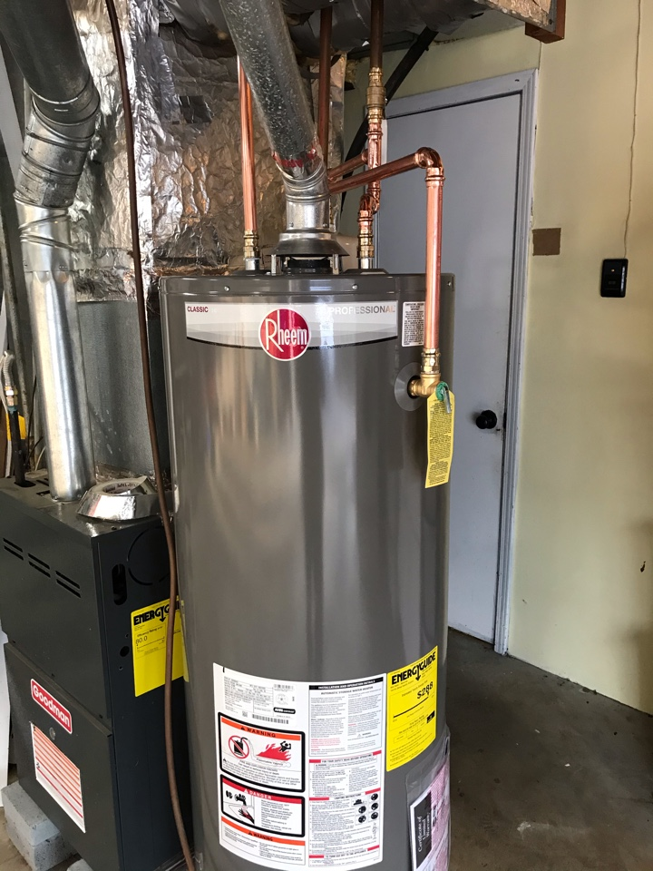 Smyrna, GA - Removed and replaced existing water heater with new Rheem 50 gallon and watts expansion