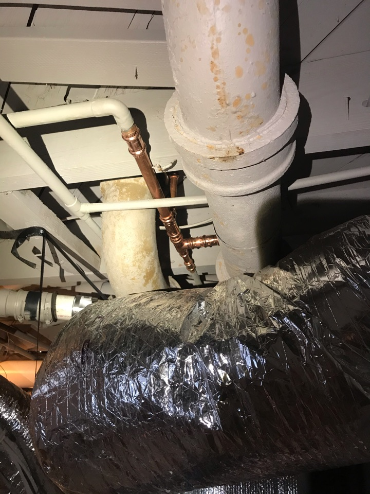 Atlanta, GA - Cut out and replaced damaged and leaking water line in basement