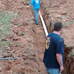 "Duluth, GA - Installed new 2 "" water main from the building to the vault using pvc piping"