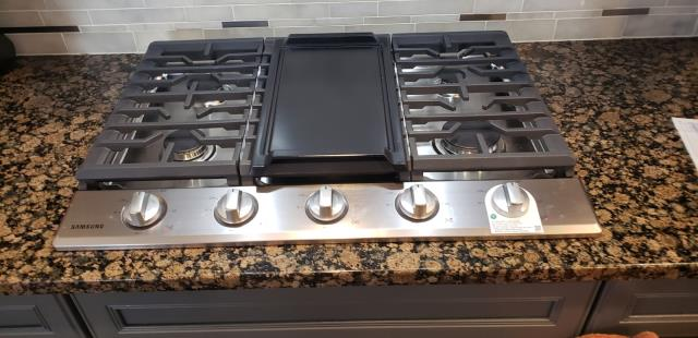 Installed new Gas top stove with a new flexable gas line