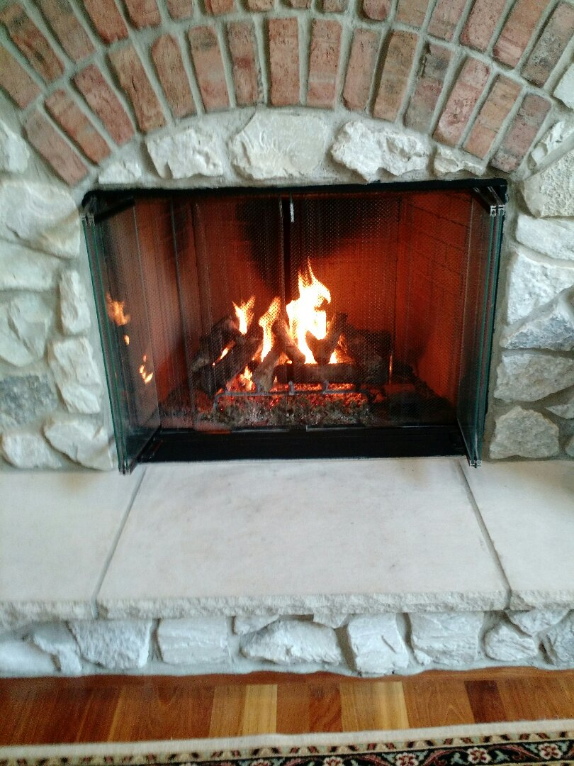 Wales, WI - Repair Gas Log Fireplace.