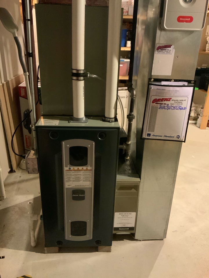 Watertown, WI - American Standard furnace and air-conditioning install