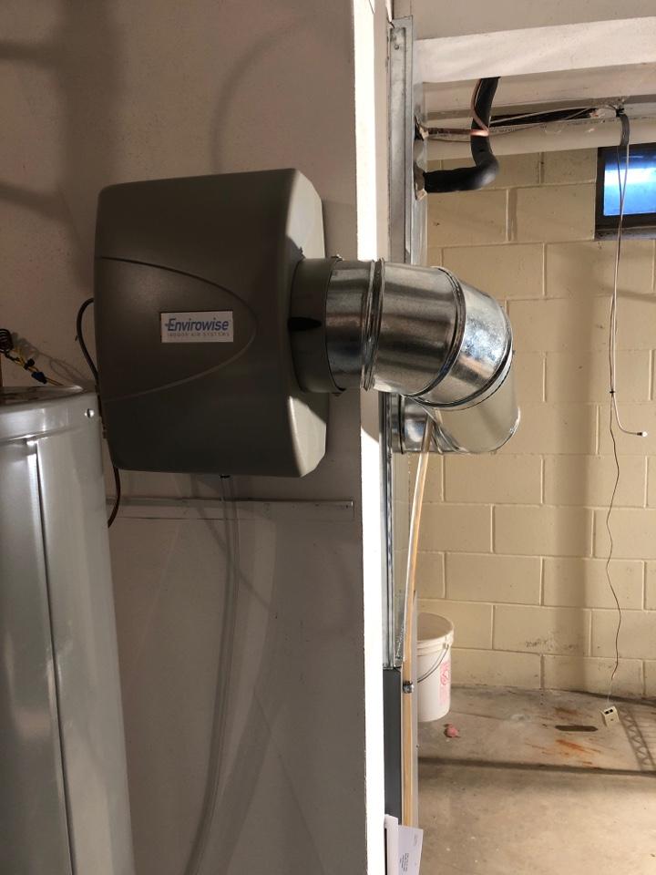 Waukesha, WI - Envirowise humidifier install
