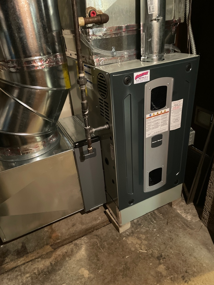 Oconomowoc, WI - American standard furnace install