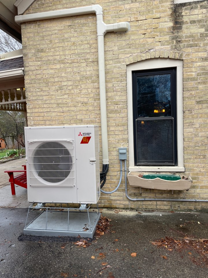 Mitsubishi ductless mini split install