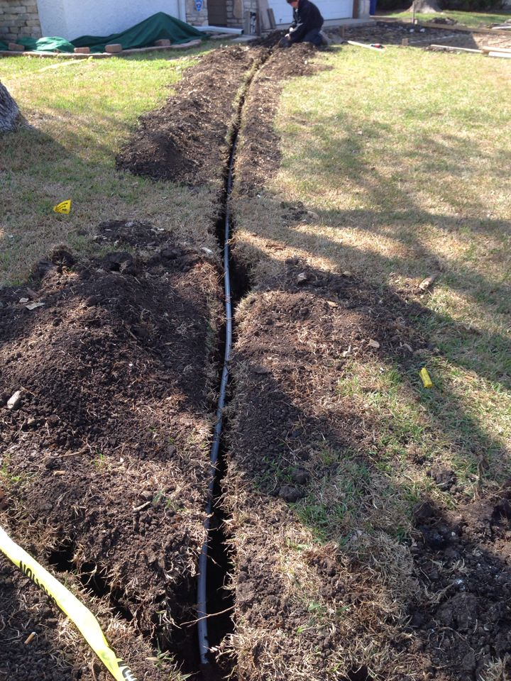 San Antonio, TX - Water line replacement in yard