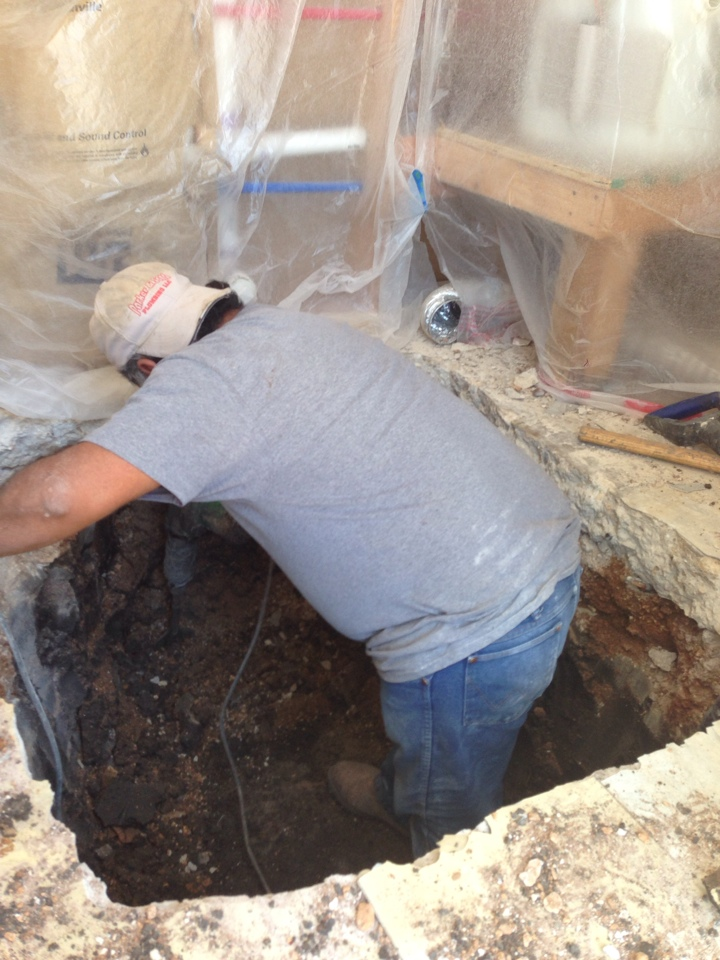 San Antonio, TX - Tunnel -drain repair below slab
