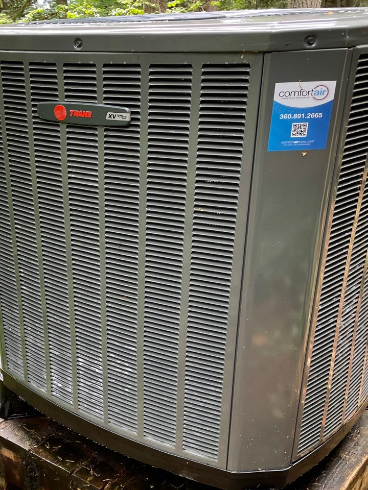 We are so happy to be able to work with a homeowner to eliminate the old in-wall cadet heating system and install new ductwork with a high-efficiency Trane heat pump system. Lots of energy savings to come!