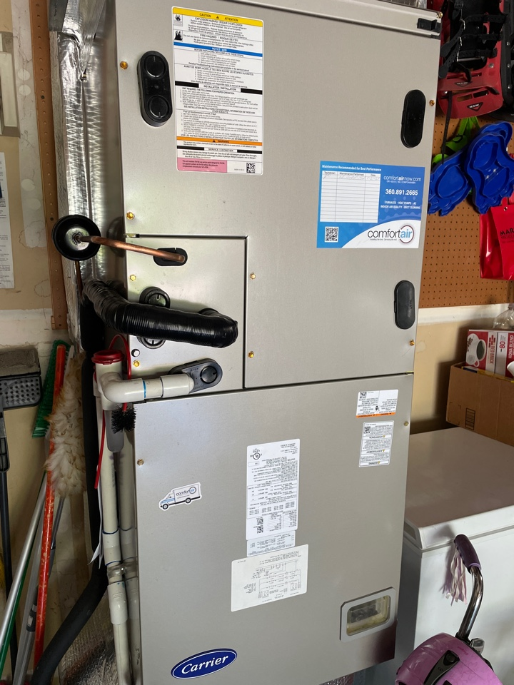 We were able to help out some great people in Vancouver, WA to replace a broken Carrier air handler and get a new one online to keep the system cool during the heat. We matched a new Carrier Air handler to work with the existing Carrier heat pump for a great matched system.