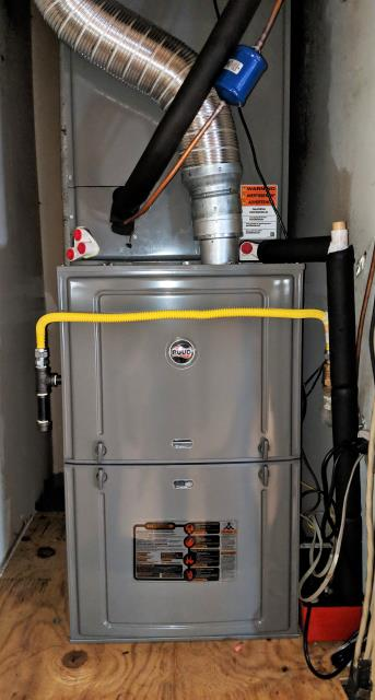 San Antonio, TX - Replace the central air and heat system with a Ruud 4-ton condenser, heater, coils, and thermostat.