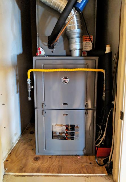 Replace the central air and heat system with a Ruud 3-ton condenser, coils, heater, and thermostat. Now the family is ready for the hot summer heat. This will help low the utility bills and keep them comfortable.
