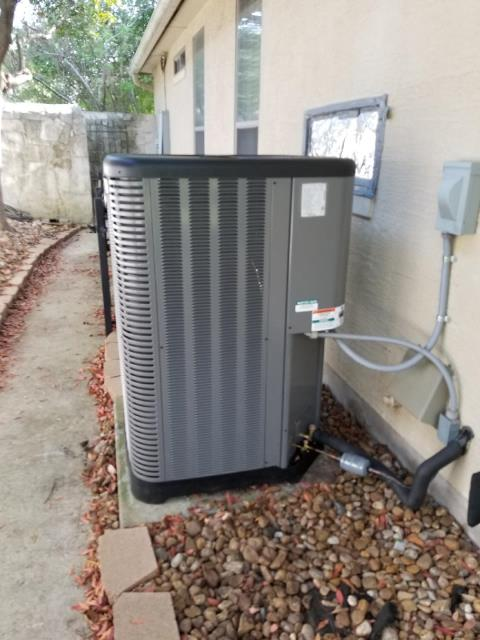Replace the condenser, gas heater, and coils. This family is now ready for the hot weather.