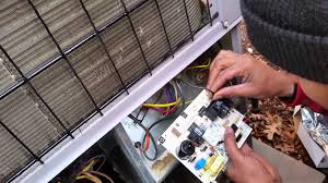 Helotes, TX - Service call that the Ac is not working. Find the circuit board on the compressor outside grounded out. Replace the board  on the central air condenser
