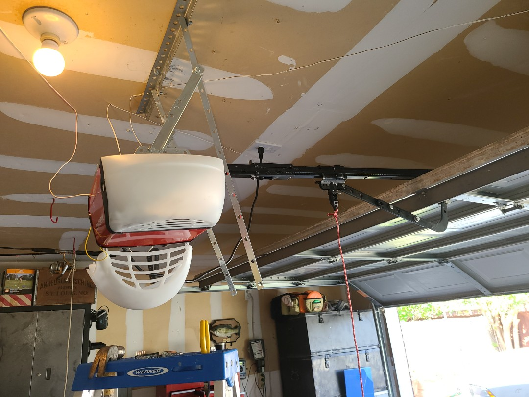 Don't try this at home folks! ?? Save money and time and buy an Operator w/  installation from your local professional.
