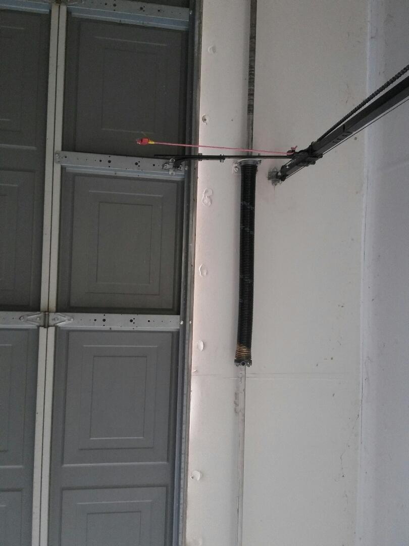 Mansfield, TX - Installed Amarr garage door spring