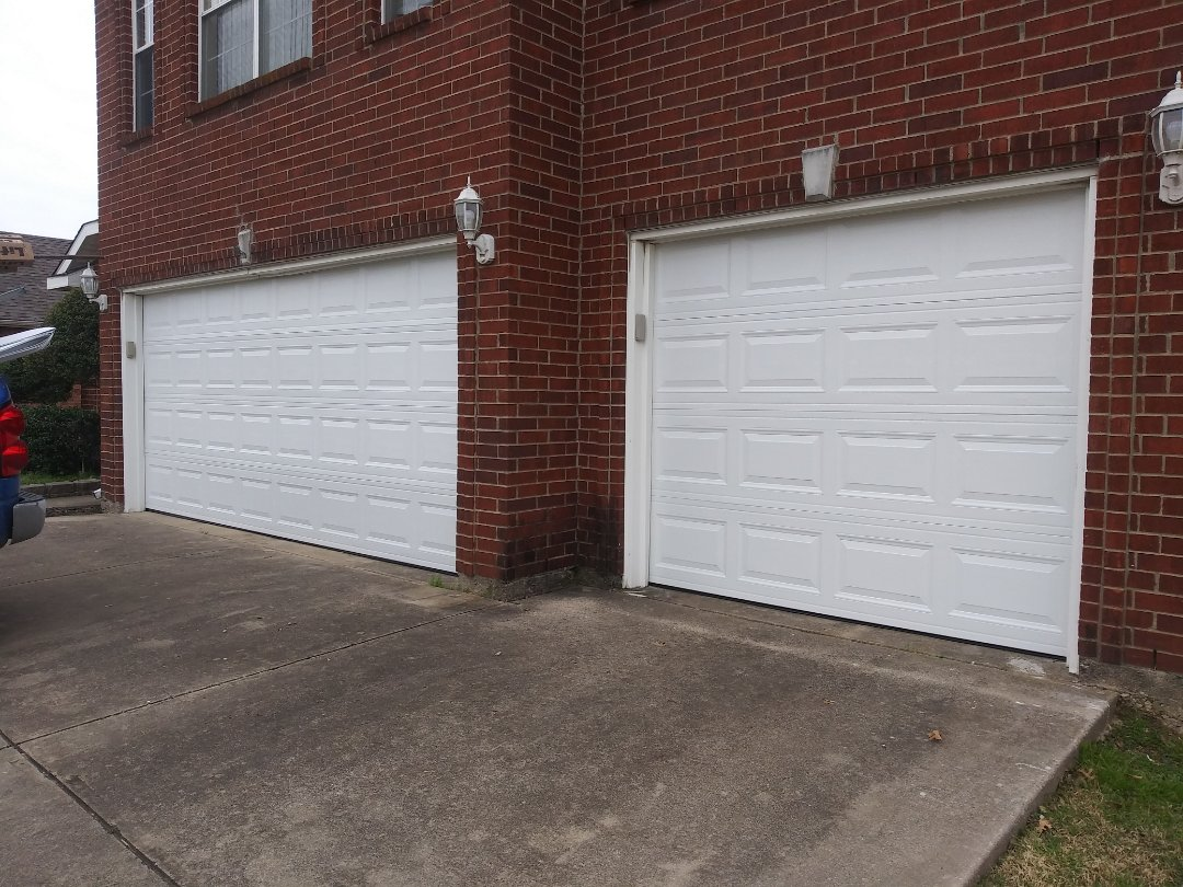 Mansfield, TX - Installed 2 new amarr garage doors