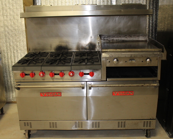 Norristown, PA - Commercial kitchen equipment repair. Vulcan gas oven not staying on. Check gas connection and regulator. Replace gas pressure regulator, valve and igniter. Corrosion lost the ability to heat properly.