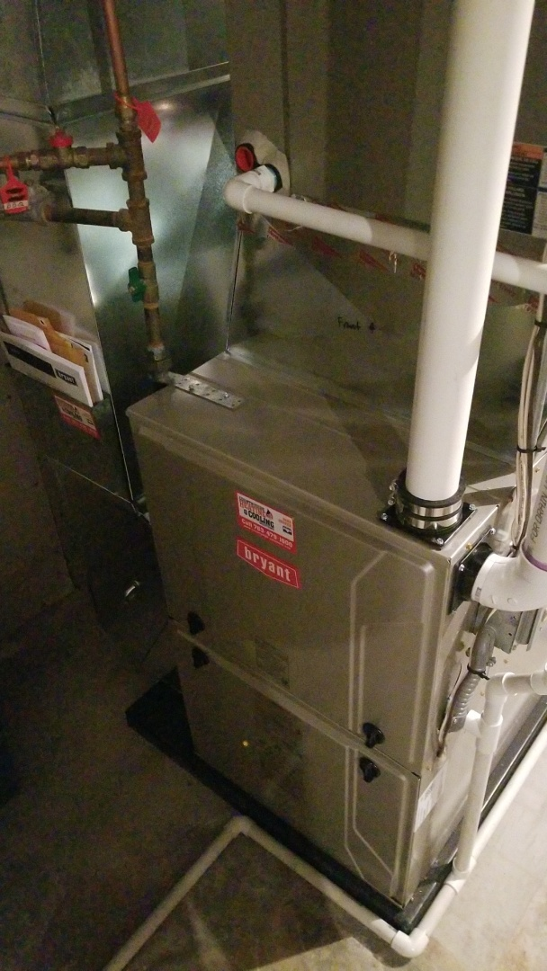 Long Lake, MN - Installing new Bryant furnace in Long Lake