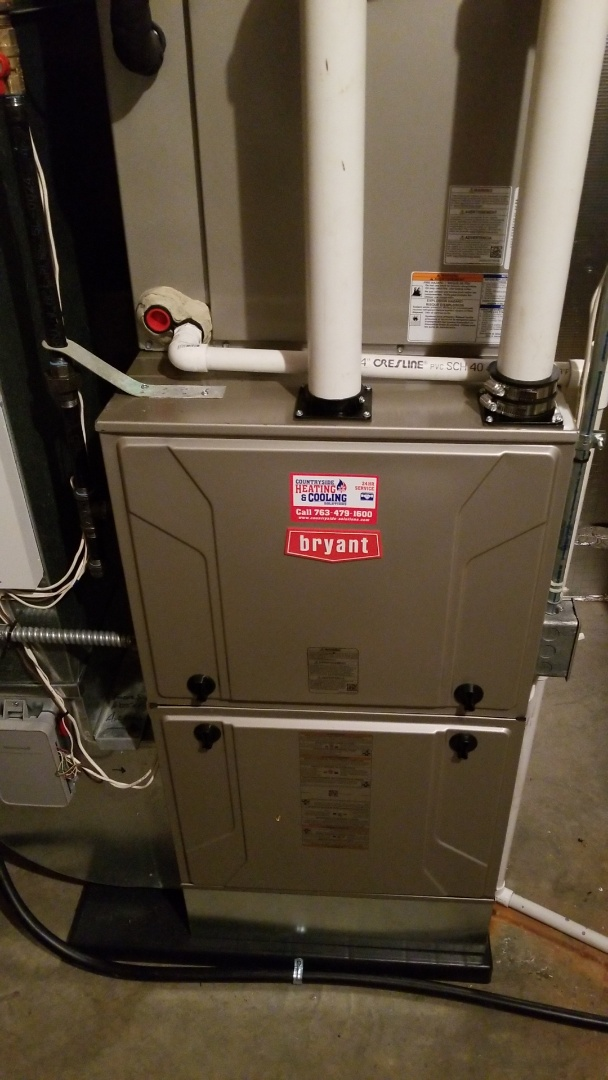 Maple Plain, MN - Installing new Bryant ac and furnace in Maple Plain