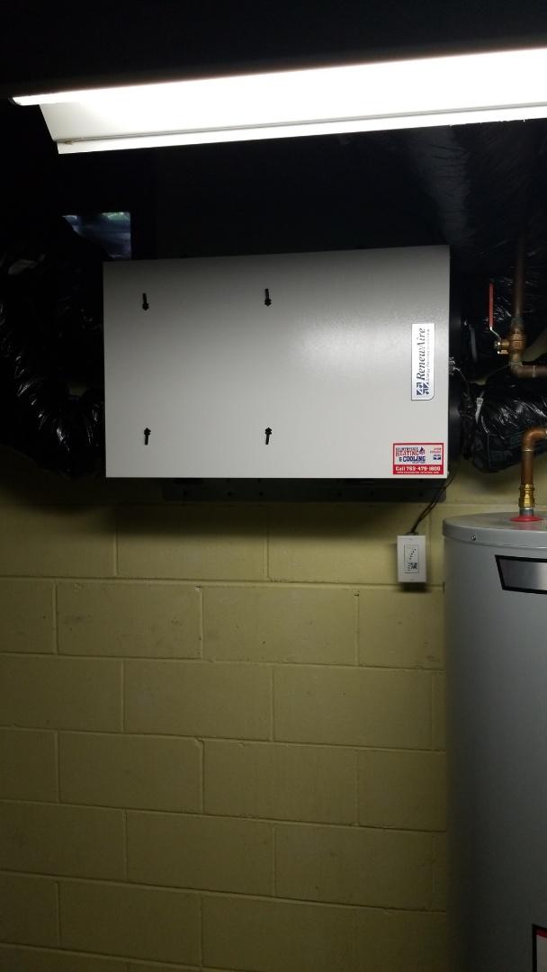 Plymouth, MN - Installing air exchanger in Wayzata Minnesota