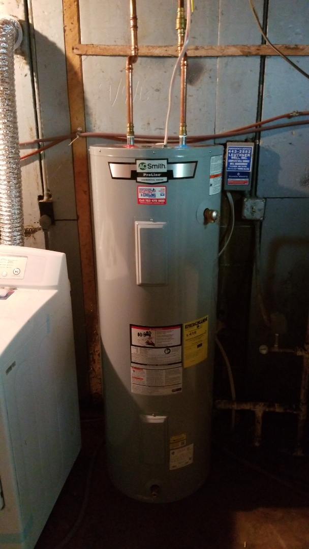 Cologne, MN - Installing 50 gallon electric water heater in Cologne Minnesota