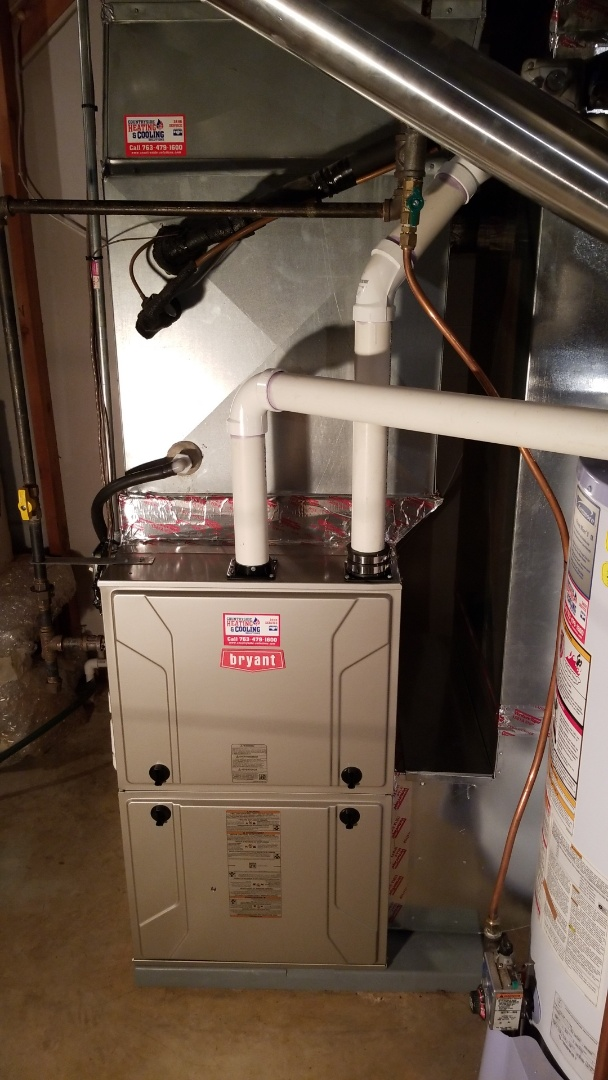 Minneapolis, MN - Installing new Bryant furnace and humidifier in Plymouth Minnesota