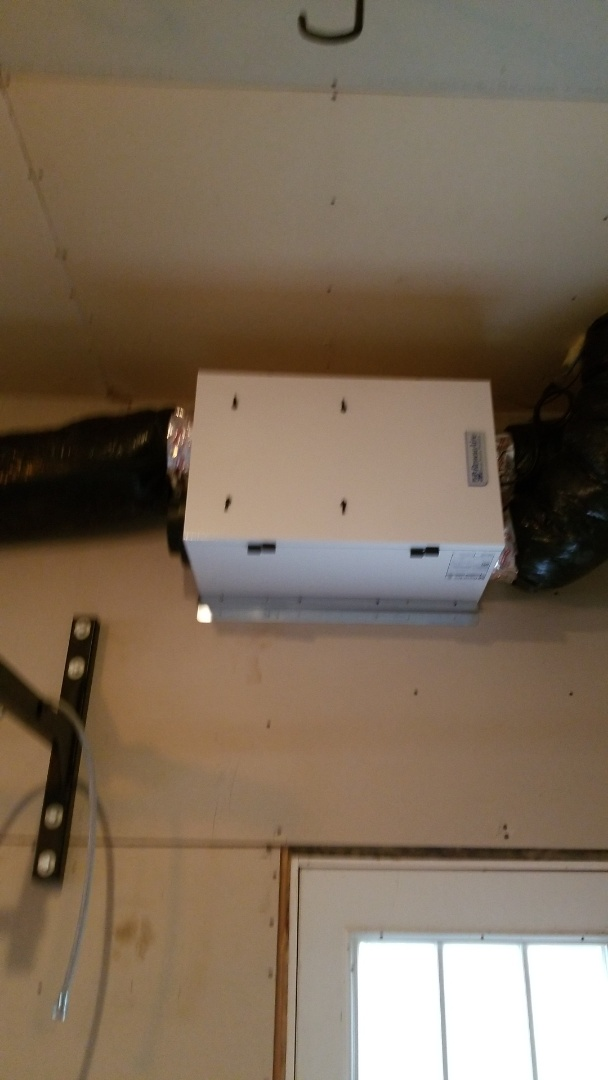 Clearwater, MN - Installing air exchanger in Clearwater Minnesota