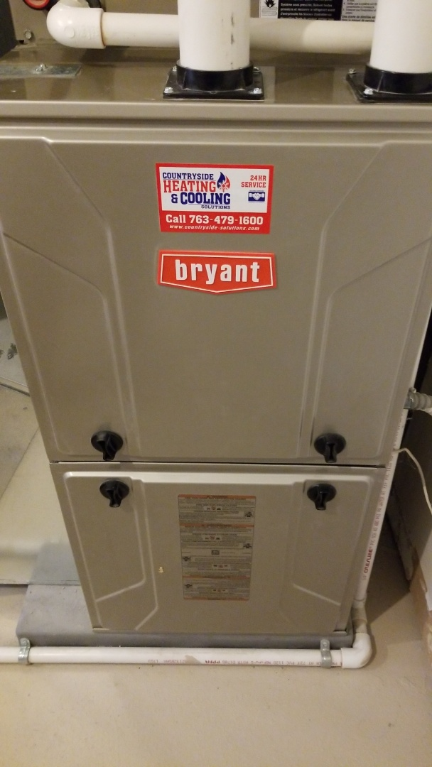 Mayer, MN - Performing furnace tune-up on Bryant furnace in Mayer Minnesota