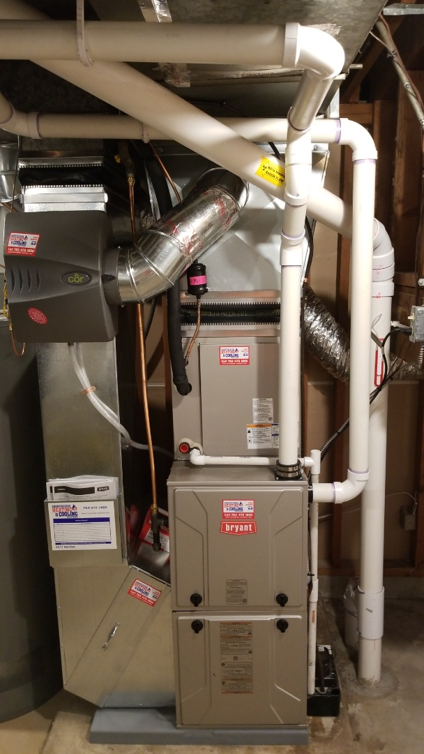 Edina, MN - Install Bryant Air Conditioner furnace and humidifier in Edina Minnesota