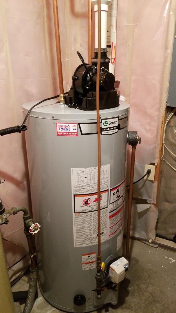 Delano, MN - Installing new water heater in Delano Minnesota