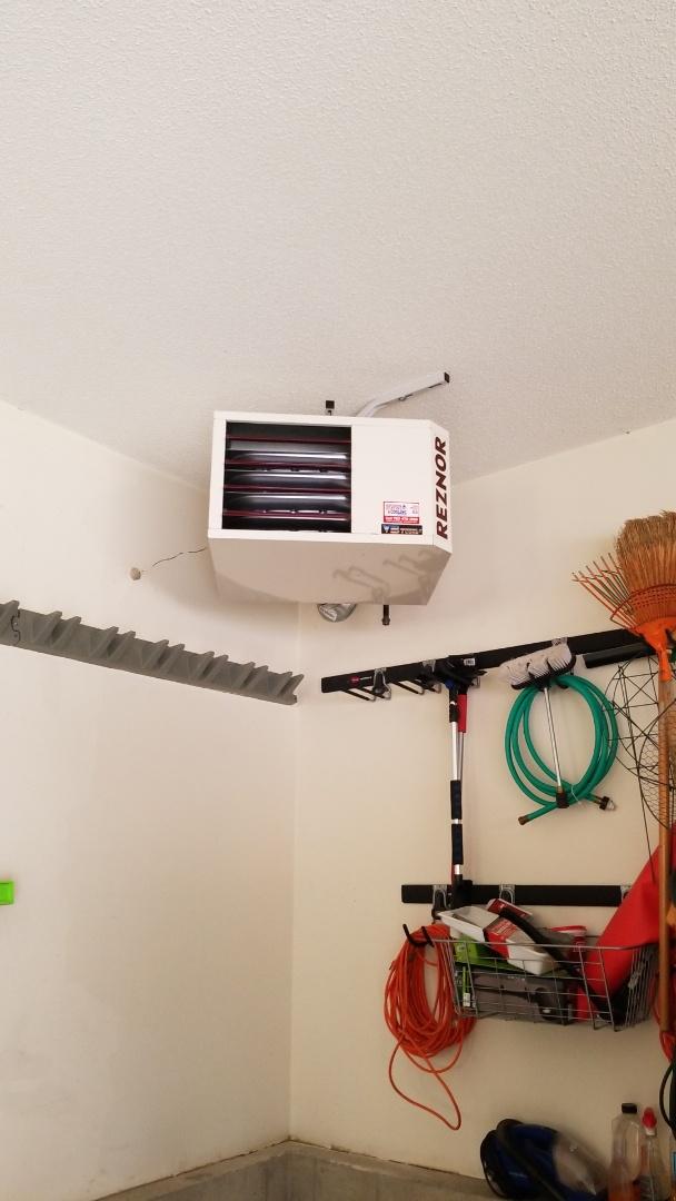 Excelsior, MN - Installing garage heater in Excelsior Minnesota